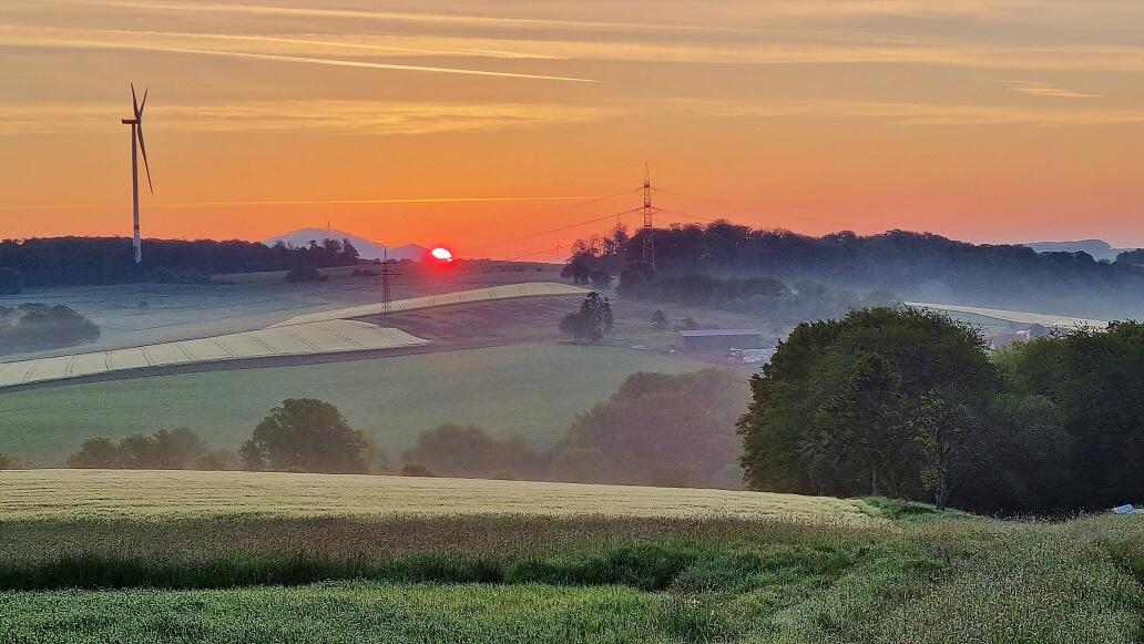 Joachim Holz, Sonnenaufgang am 28. Mai 2021 um 05:45 Uhr