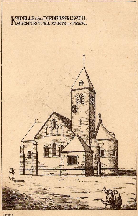 Antoniuskapelle, Entwurf des Architekten Wirtz aus Trier