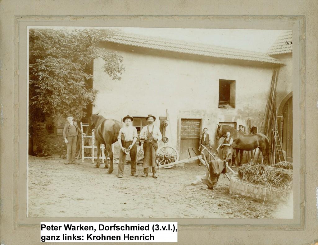 Peter Warken, Dorfschmied in der Kreuzwies