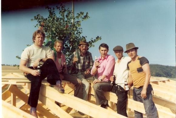 Clubhaus SVN Richtfest 1977