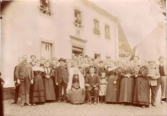 Goldene Hochzeit 1900 im Haus Biesel in Rümmelbach