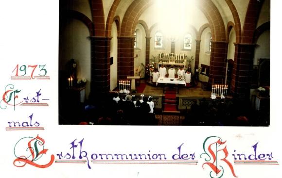 erster Weißer Sonntag in Antoniuskapelle 1973, Foto: Jakob Britz