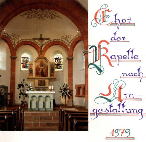 Antoniuskapelle, Chorraum 1979, Foto: Jakob Britz