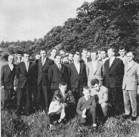 Der Männergesang-verein im Jahre 1962