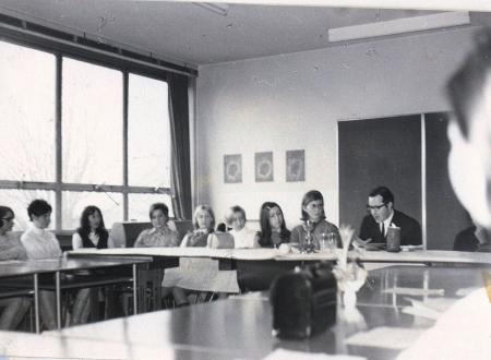 Kreisberufsschule Lebach, Tischgottesdienst 1969