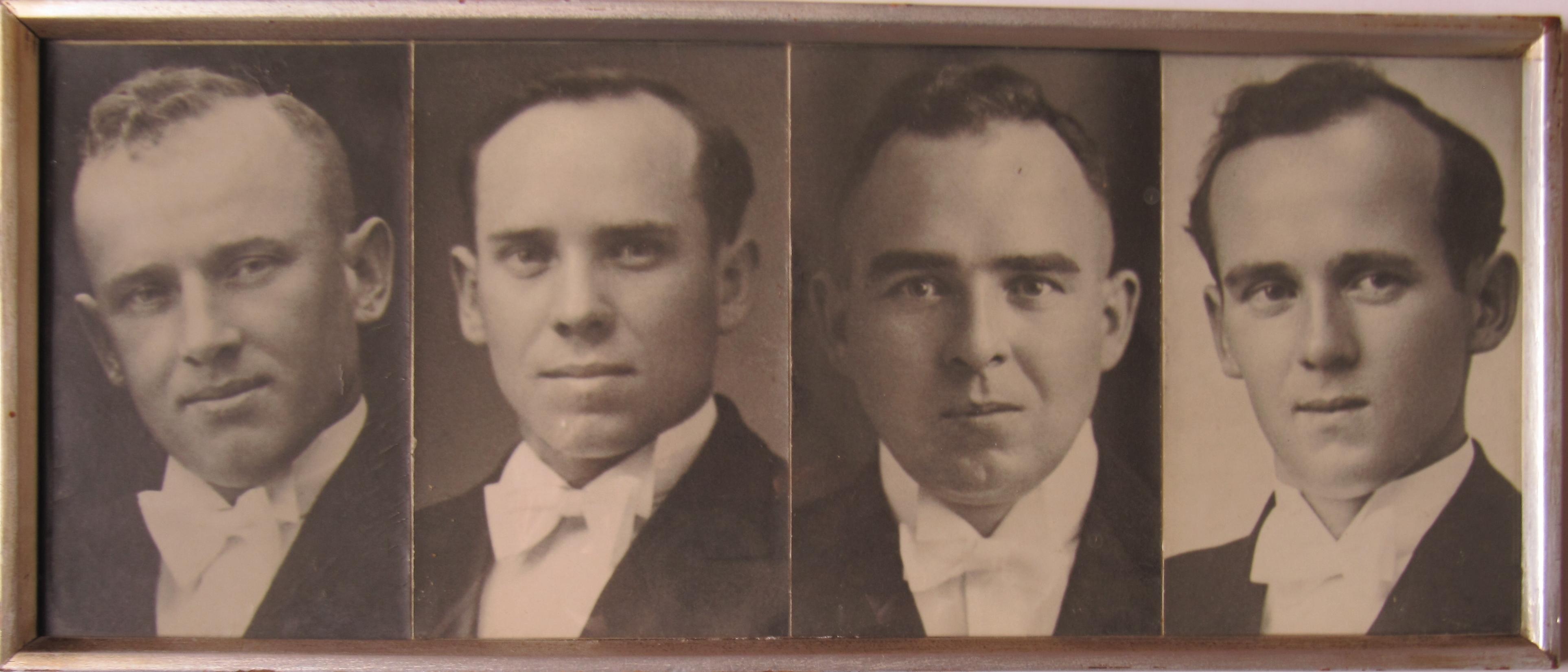 v.l.n.r.: Josef, Bernhard, Karl und Mattias Adam fielen im 2. Weltkrieg; Fotoarchiv: Peter Adam (Losheim)