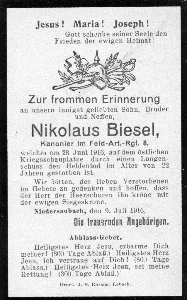 Nikolaus-Biesel_Totenbildchen